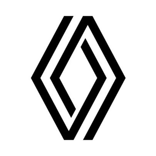 Nouveau logo renault sur fond blanc